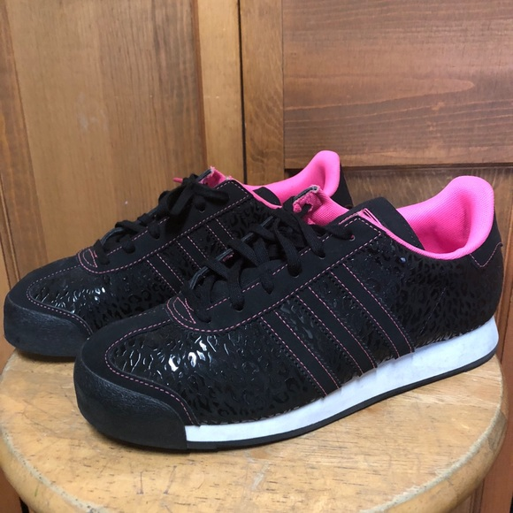 new arrivals 14634 5ddb2 adidas Shoes - Adidas Samoa J Black Pink Sneakers Size 6.5